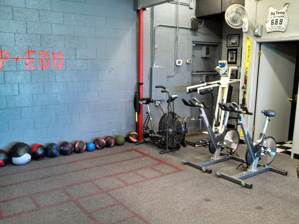 EDU's MedBall Wall, Metabolic and Air Squat Area