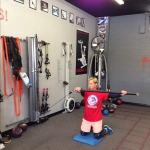 Full Kneeling lifting with chop bar